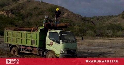 Viral Foto Komodo Hadang Truk Proyek Jurassic Park di ...
