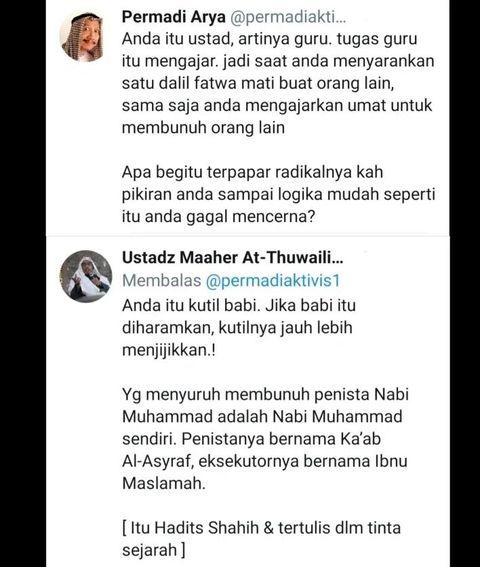 Ustaz Maaher Ke Abu Janda Menurut Fikih Penghina Nabi Darahnya Halal